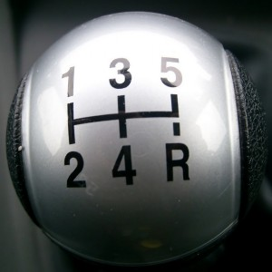 Gearstick with numbers