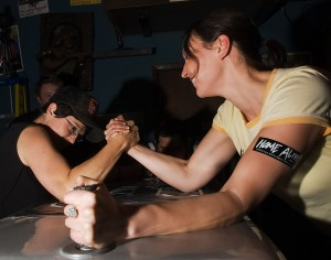 Arm wrestling match