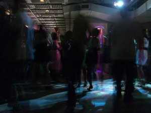 Hazy image of the dance floor