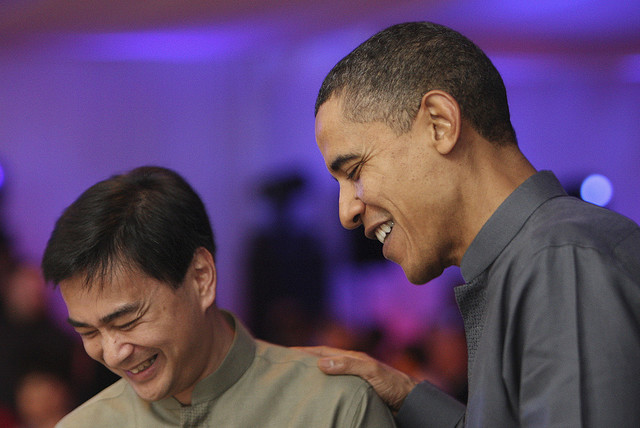 Obama talking to Abhisit