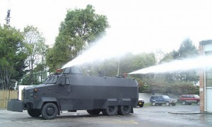 Riot control water cannon tank