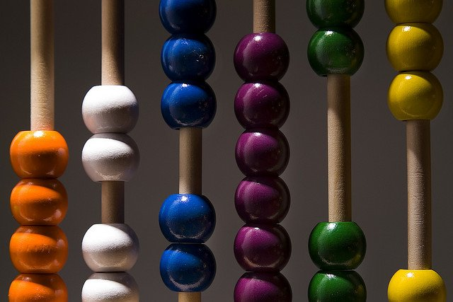 coloured abacus beads