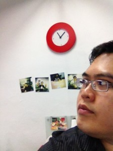 Me, eyeing the clock