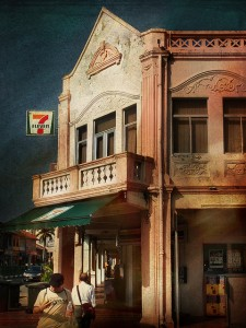Old shophouse with 7-11