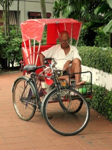 Man on a Trishaw