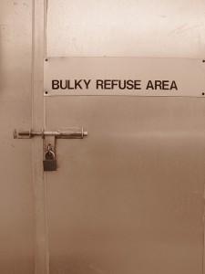 Bulk refuse area