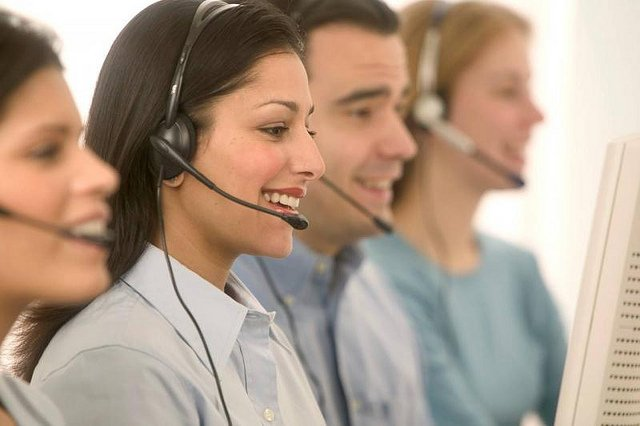 Smiling phone operators