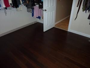 Dark bamboo floor