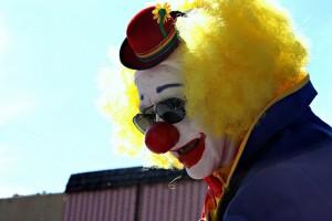 Spoky clown face