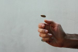 Flipping a coin