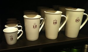 Different coffee sizes