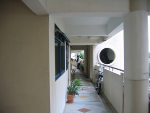 HDB common corridor balcony