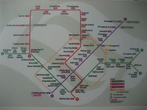 MRT train map