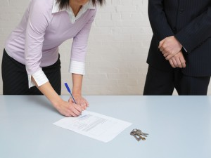 Signing a home loan