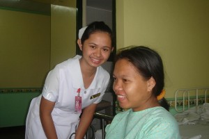 Nurse and smiling patient