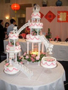 Wedding cake that looks like a building