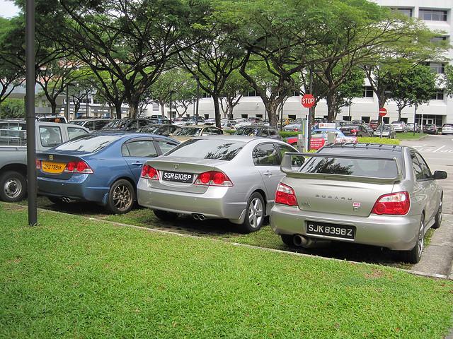 Singapore parking lot
