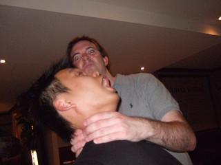 Man being strangled