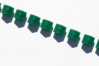 Chain of plastic houses
