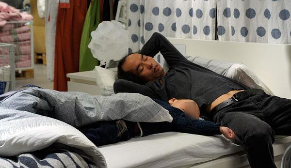 Sleeping at IKEA