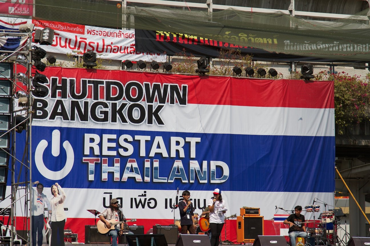 Shutdown Bangkok - Restart Thailand - Pathumwan Intersection