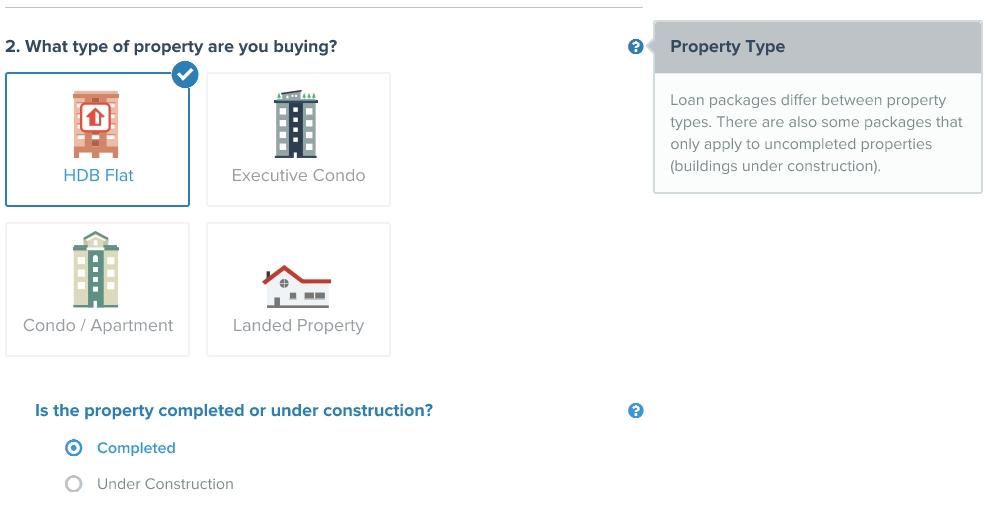 home loan calculator hdb flat vs ec vs condo vs landed property type