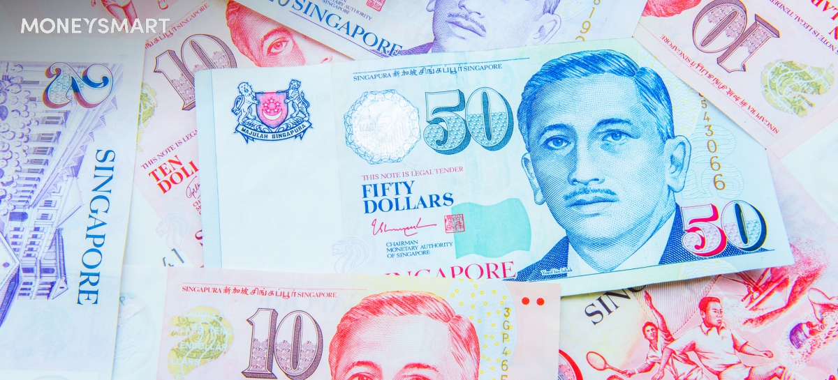 Singapore dollar bills money header