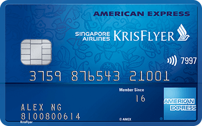american express singapore airlines krisflyer air miles credit card