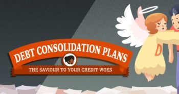 debt consolidation plan infographic