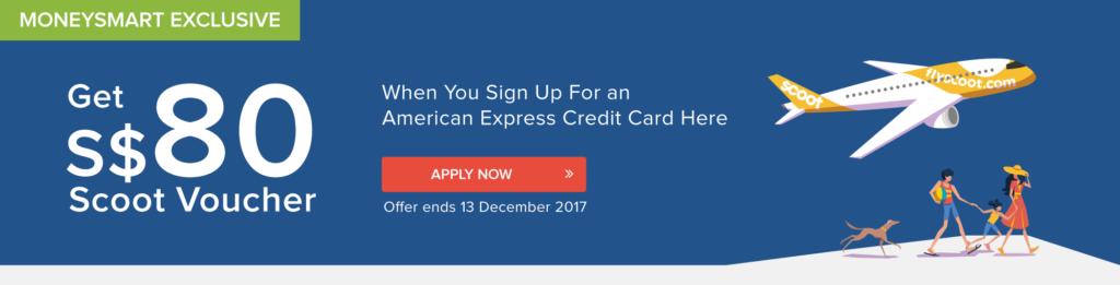 MoneySmart Scoot Voucher American Express Credit Cards
