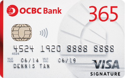 ocbc 365 credit card weekend dining