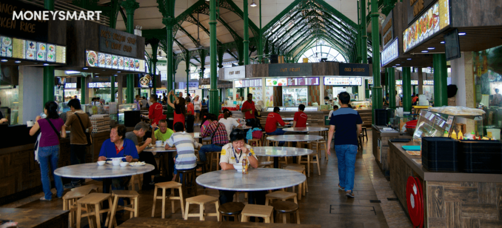 EZ-link payment hawker centre food