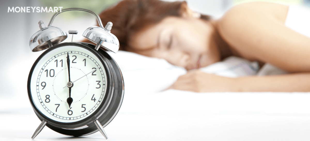 Woman sleeping clock header