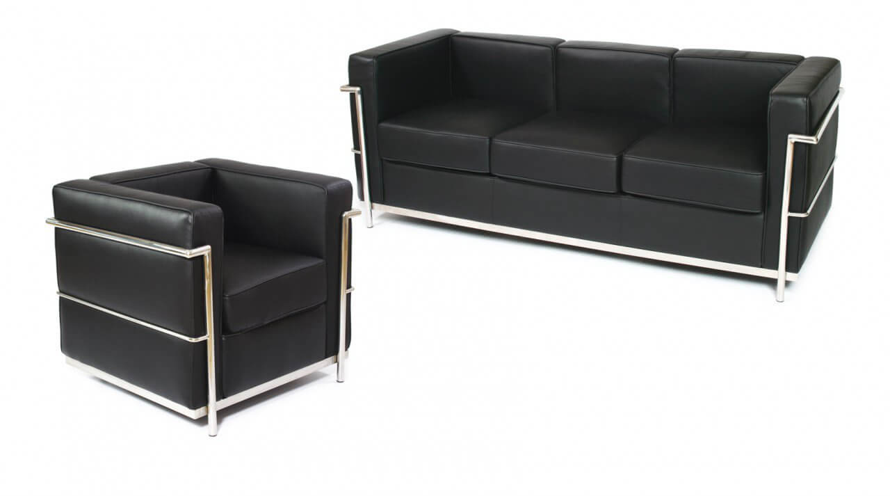 Le Corbusier (replica) 3–Seater Sofa ($649) from Comfort Designer Furniture.