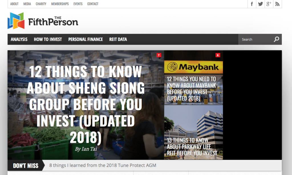 singapore investment blogs