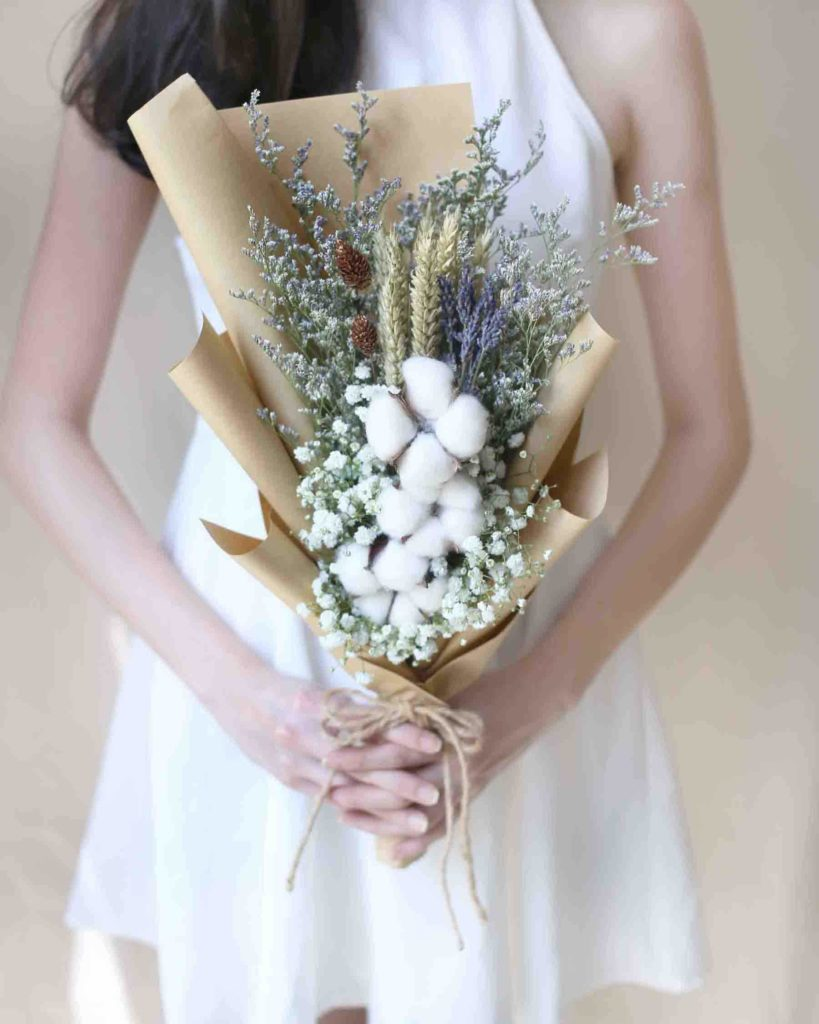 Cotton Fluff bouquet by Windflower Florist ($43)