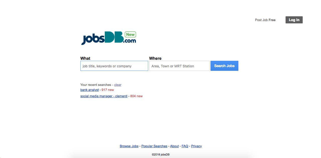 Find job singapore