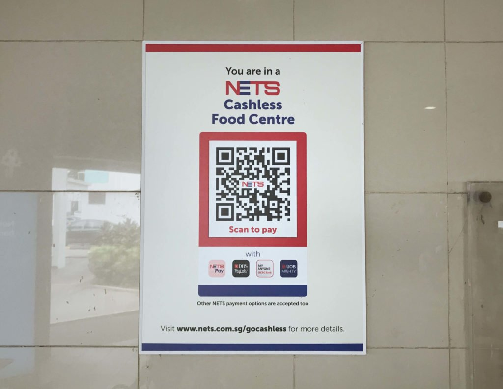 nets hawker centre cashless