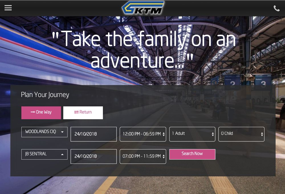 train to JB guide 2018 ktm website