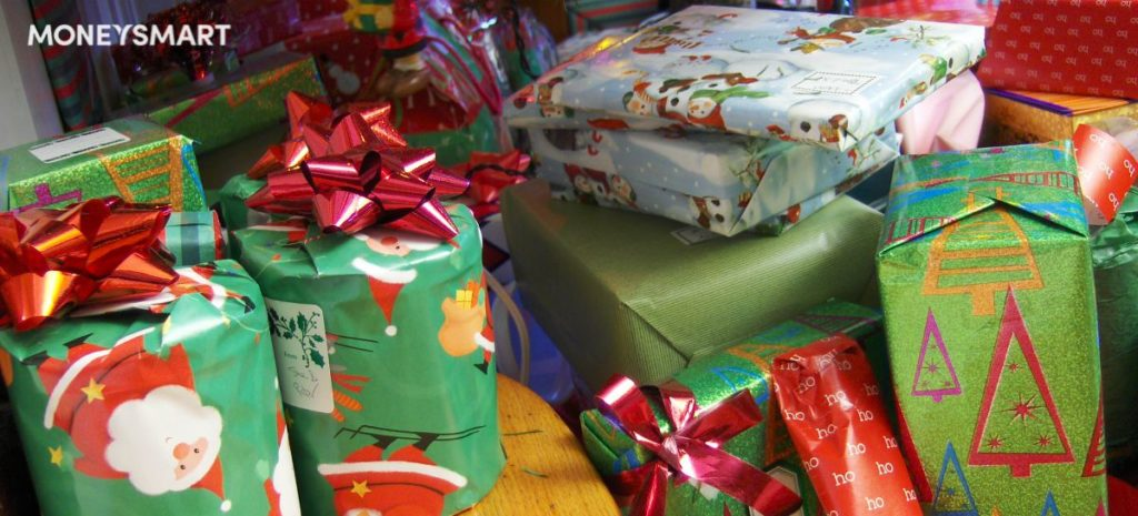 overspend on christmas gifts