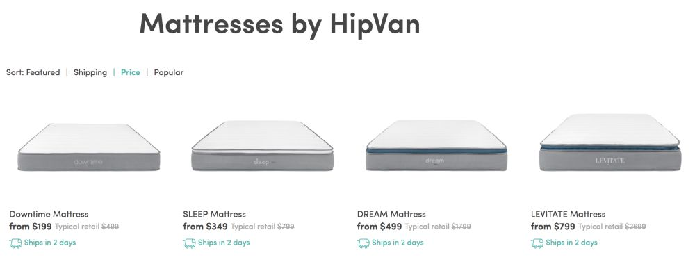 hipvan cheap mattress singapore