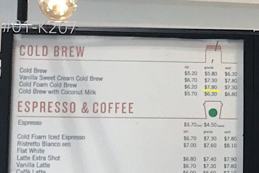 Starbucks Singapore Menu & Prices - Are They The Same ...