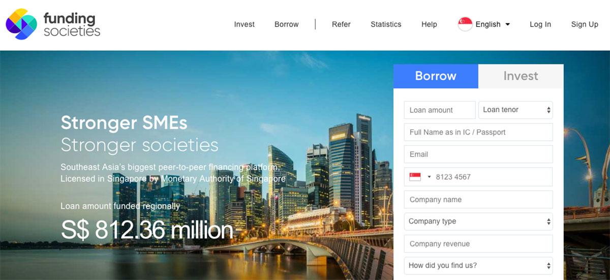 funding societies p2p lending platform