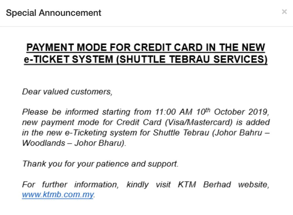 train to jb ticketing