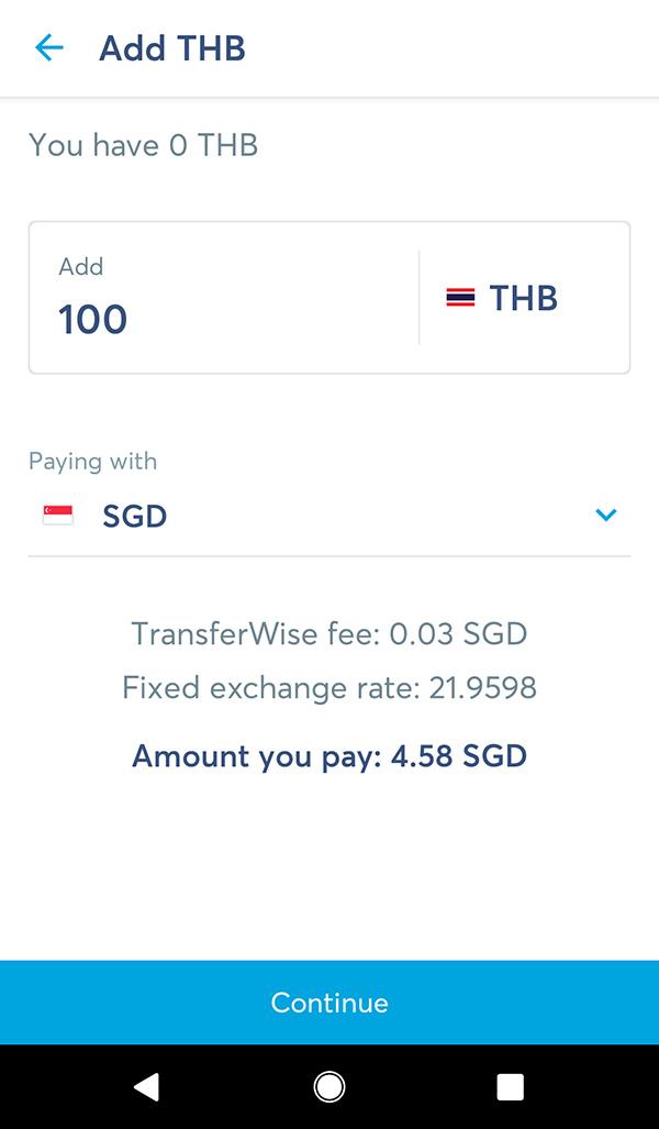 transferwise fees app