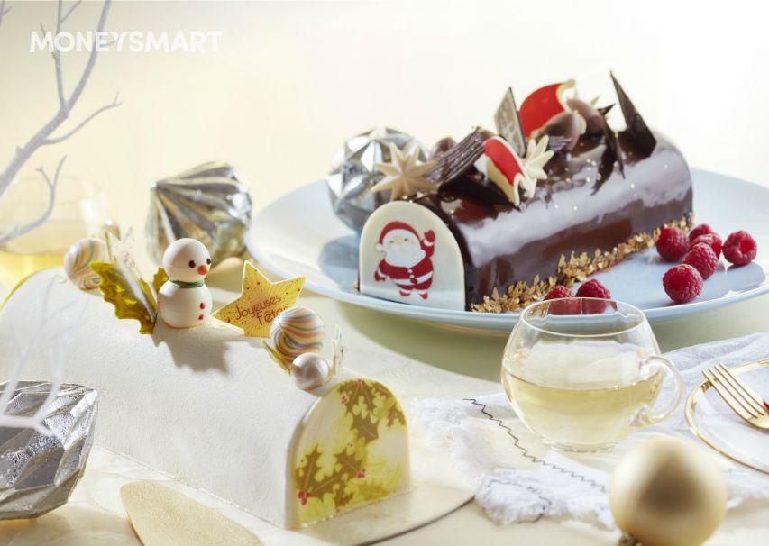 log cake & christmas buffet promotion singapore